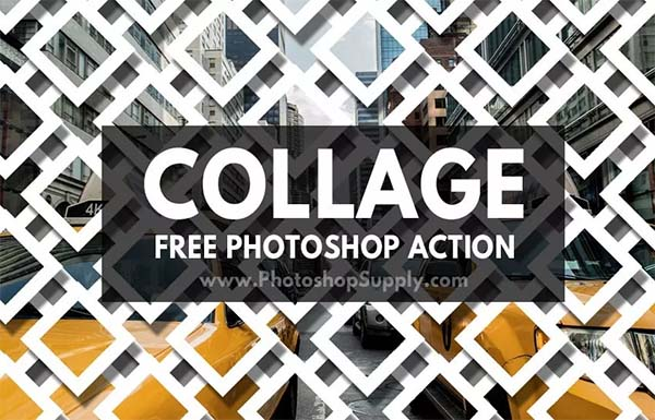 Free Collage Photoshop Action