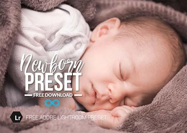 Free Newborn Lightroom Preset