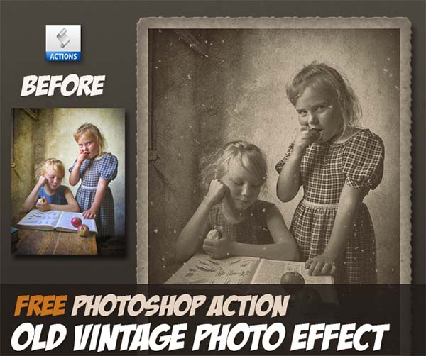 Free Old Vintage Photo Effect Photoshop Action