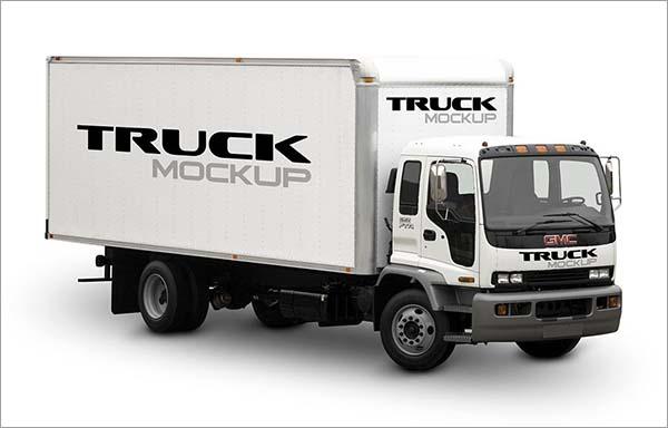 Free PSD Big Truck Mockup