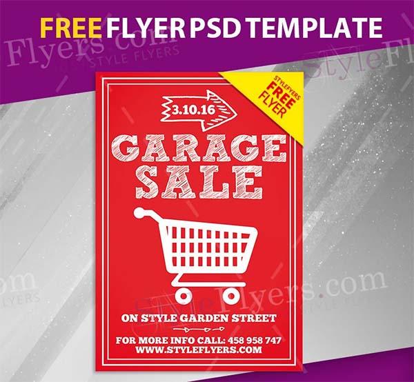Free PSD Garage Sale Flyer Template