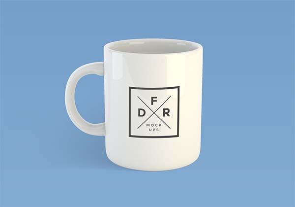 Free PSD Simple Coffee Mug Mockup