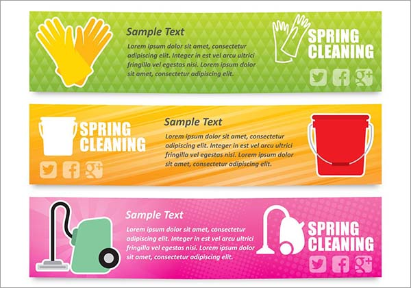 Free PSD Spring Cleaning Banners