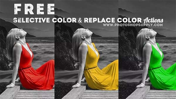 Free Selective Color Photoshop Action