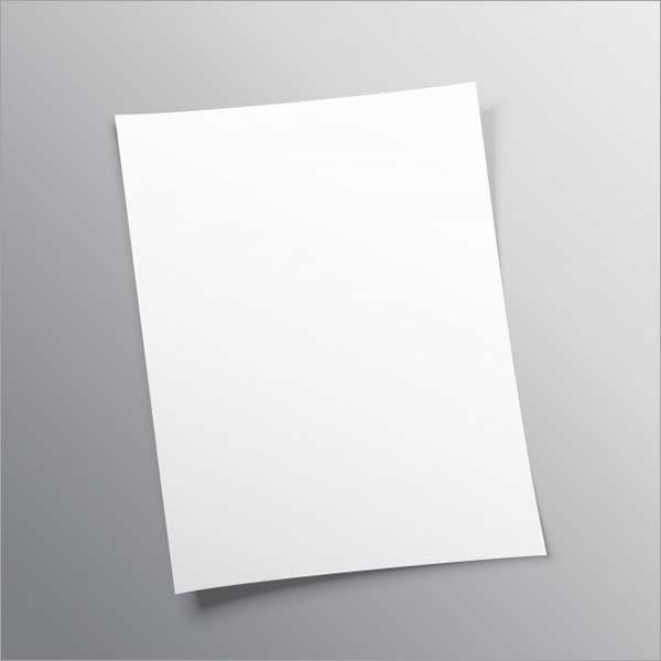Free Vector A4 Paper Mockup