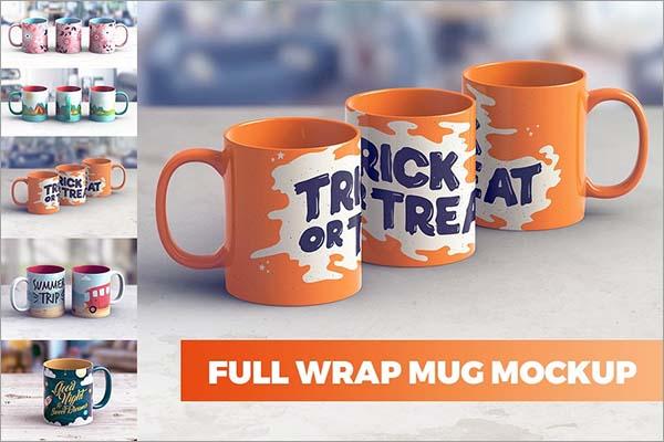 Full Wrap Mug MockUp