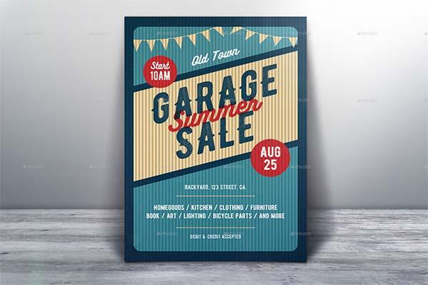 Garage Sale Flyer and Poster PSD Design