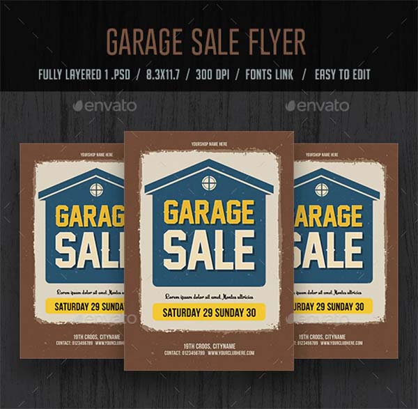 Garage Sale Flyer and Poster Template