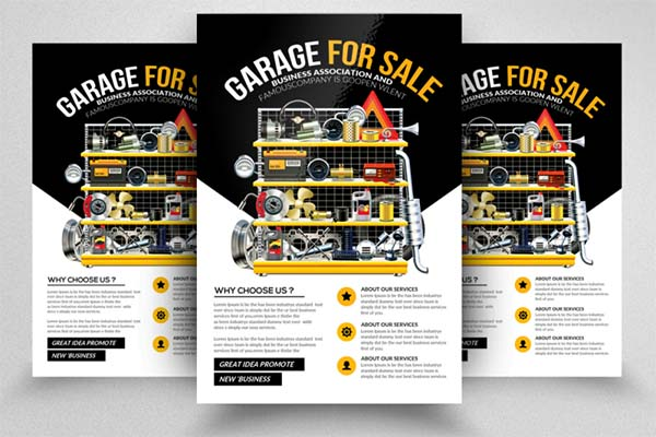 Garage Sale Flyers PSD Template Design