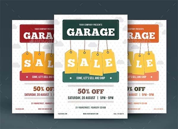 Garage Sale PSD Flyer