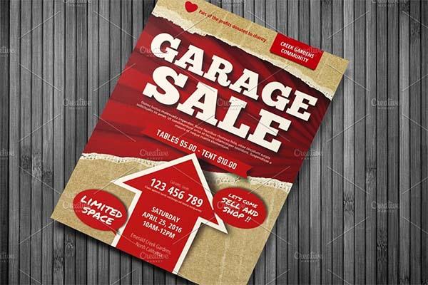 Garage Sale PSD, PDF Flyer
