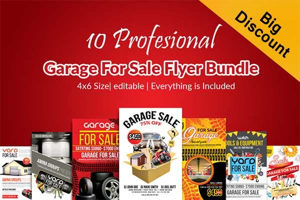 Garage Sale Promotion Flyer Bundle