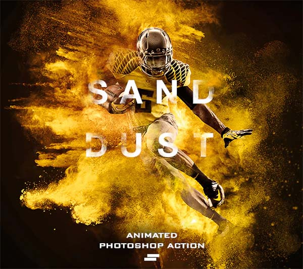 Gif Animated Sand Dust Photoshop Action