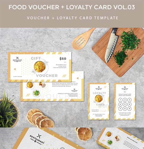 Gift Voucher Loyalty Card Template