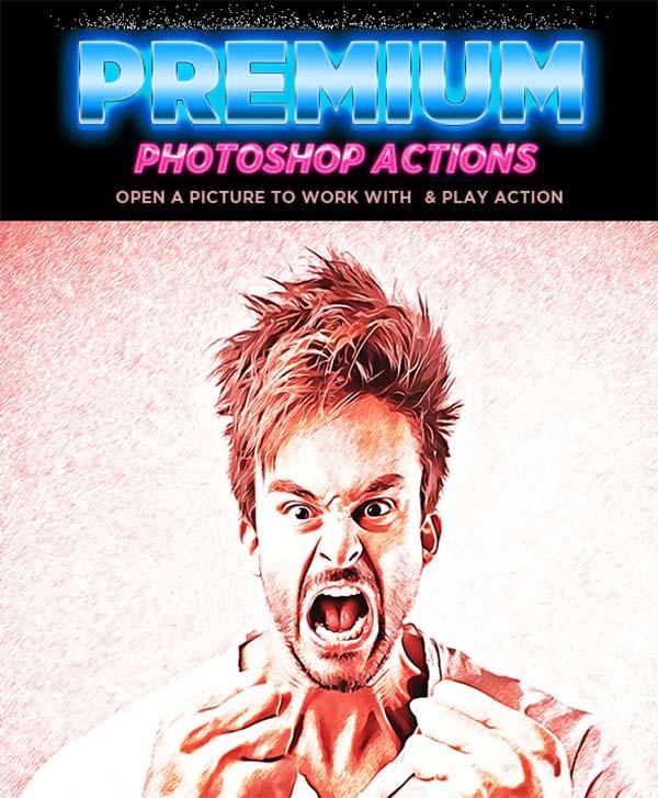 Glitch Cartoon Photoshop Action