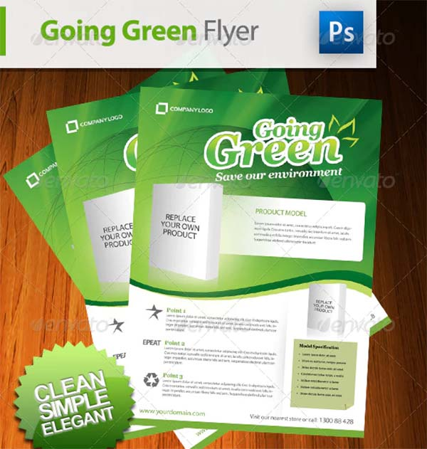 Going Green Product Flyer
