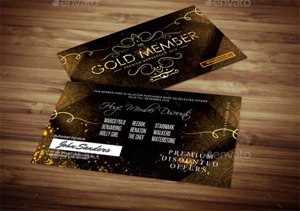 Golden Loyalty Card PSD Template