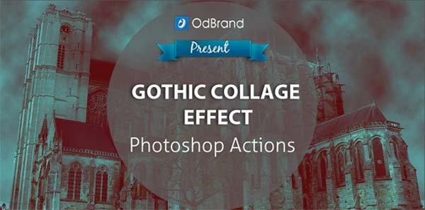 Gothic Collage Effect Photoshop Action