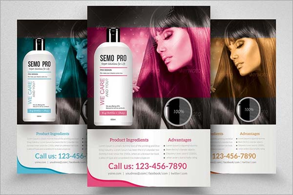 Hair Product Promotion Flyer Template