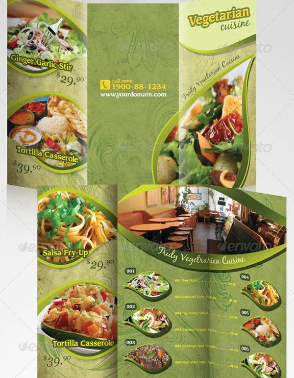 Healthy Food Menu Brochure