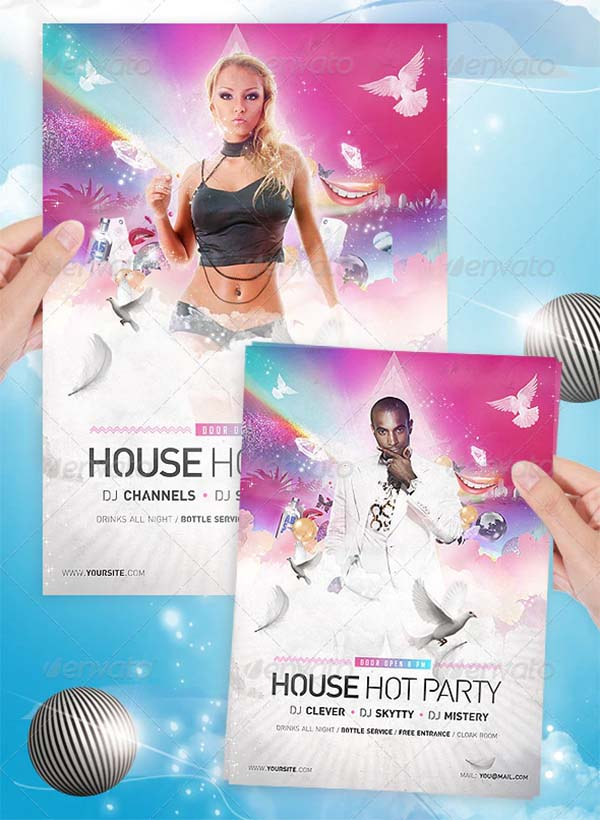 House Party Disco Flyer Template