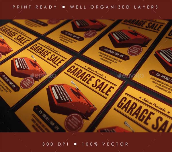 Illustrator Garage Sale Flyer Template