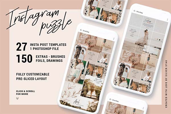 InstaGrid 7.0 Instagram Puzzle Template