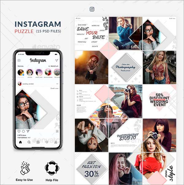 Instagram Photoshop Puzzle
