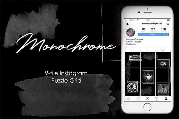 Instagram Puzzle Grid Monochrome