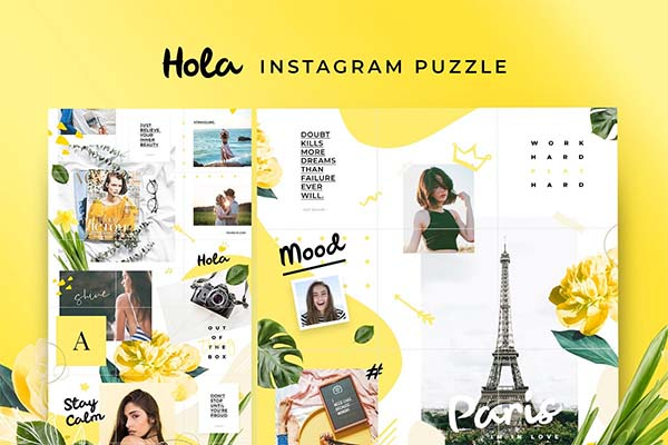 Instagram Puzzle Hola Template