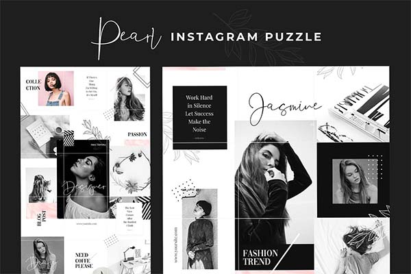 Instagram Puzzle Pearl Template