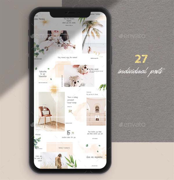 Instagram Puzzle Photoshop Template