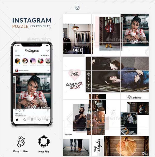 Instagram Puzzle Templates