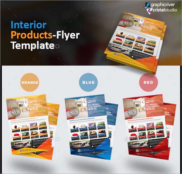 Interior Product Flyer Template