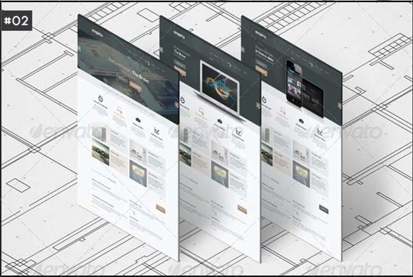 Isometric A4 Paper Mockup