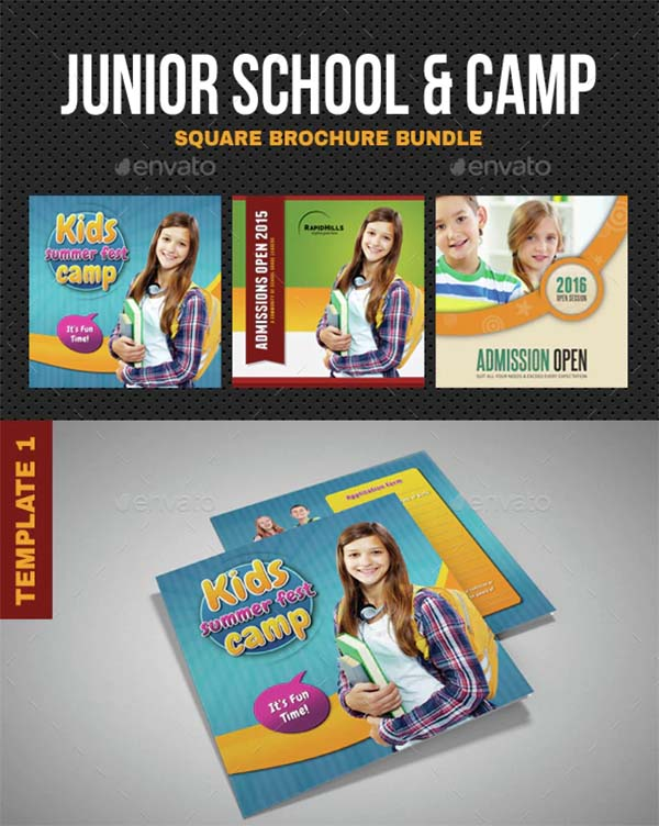 Junior Summer Camp School Brochure Bundle