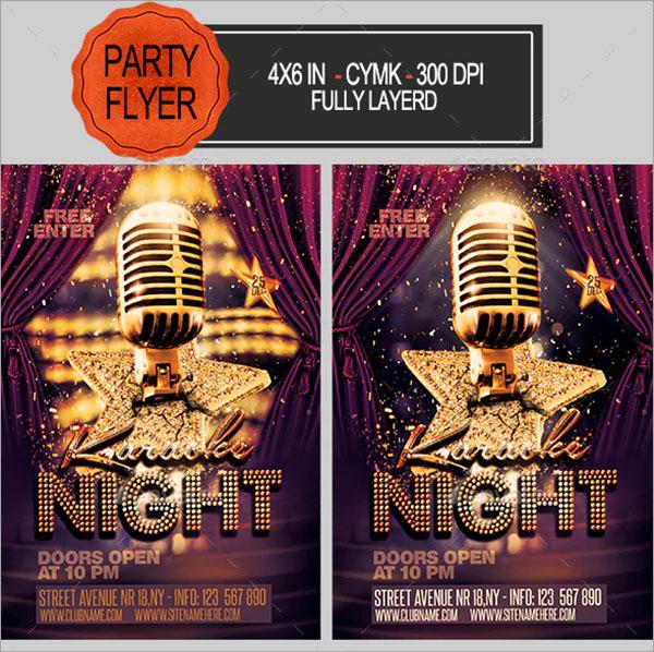 Karaoke Bar Flyer Template