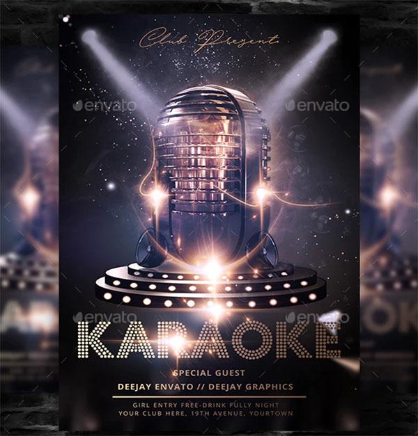 Karaoke Club Flyer Template