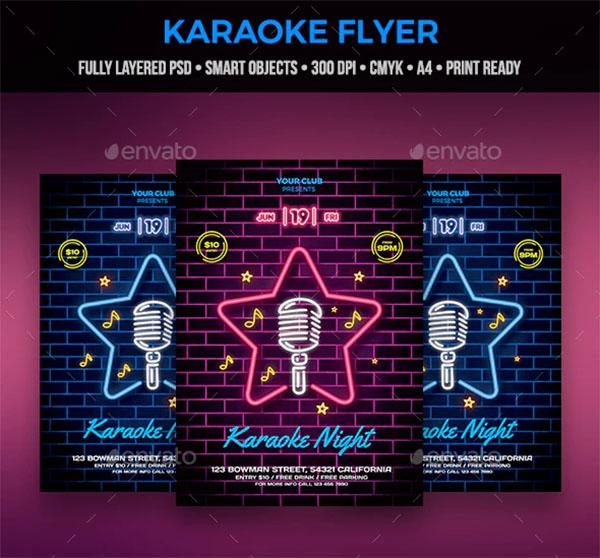Karaoke Flyer Design