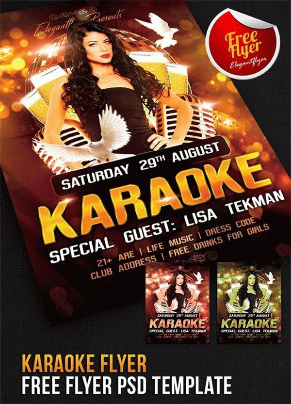 Karaoke Flyer Free Flyer PSD Template