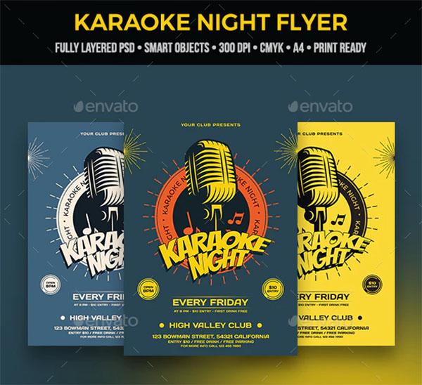 Karaoke Flyer PSD Design