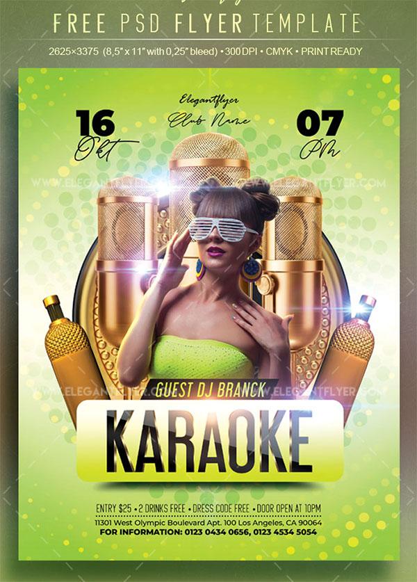 Karaoke Free Flyer PSD Designs