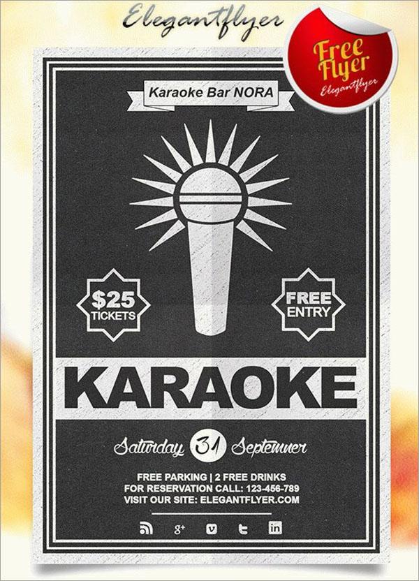 Karaoke Free Flyer PSD Template Design
