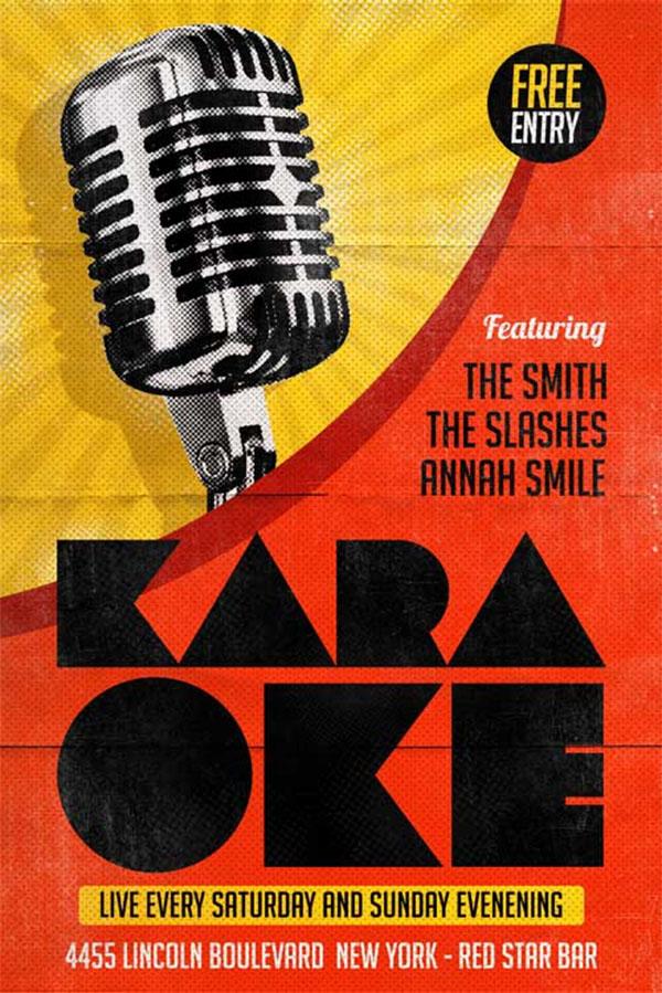 Karaoke Free Flyer Template Design