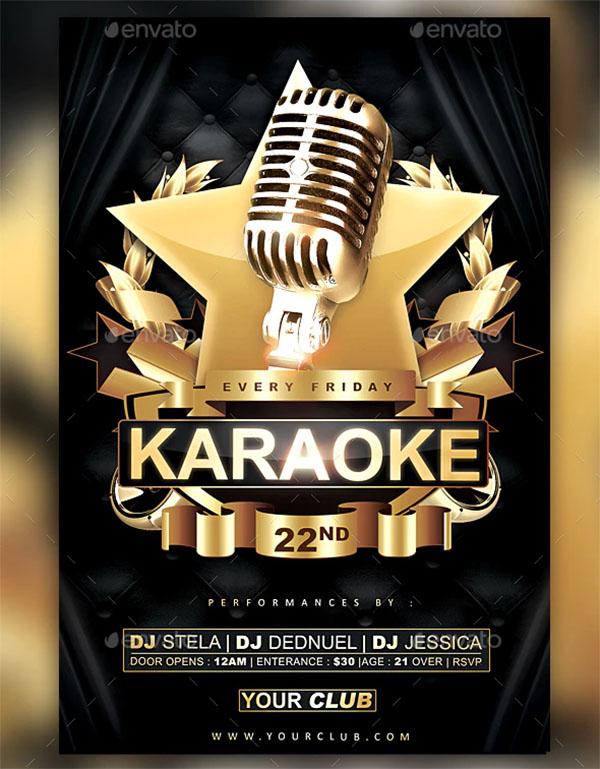 Karaoke Gold Flyer Template