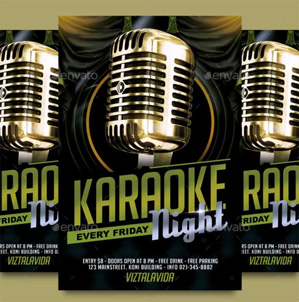 Karaoke Music Flyer Template