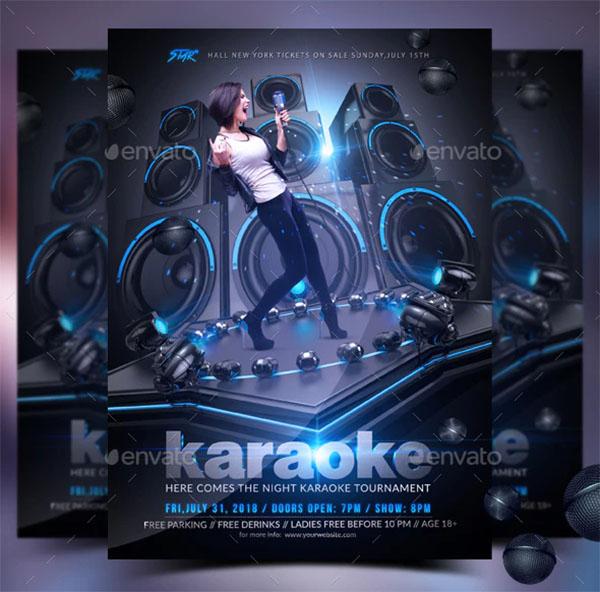 Karaoke Photoshop Flyer Design