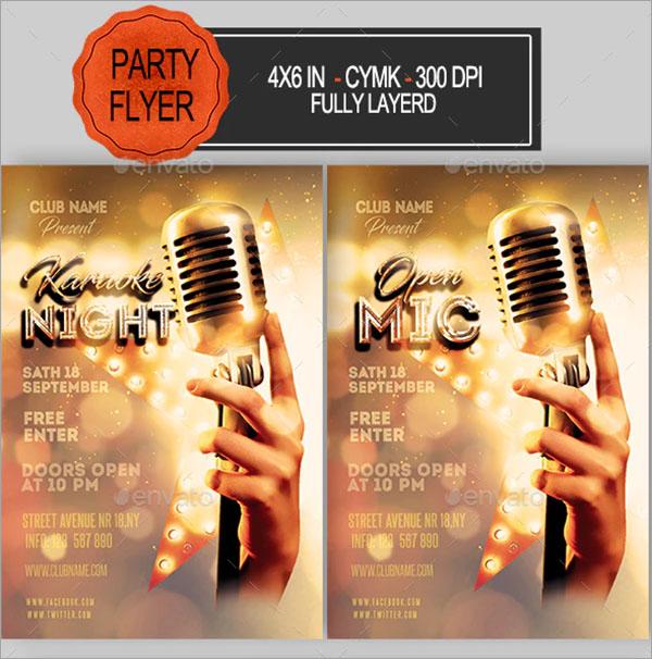 Karaoke Photoshop Flyer