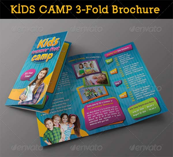 Kids Summer Camp 3-Fold Brochure
