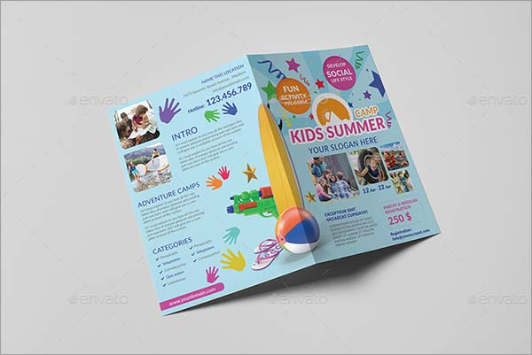 Kids Summer Camp A5 Brochure Template